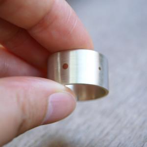 modern dots ring
