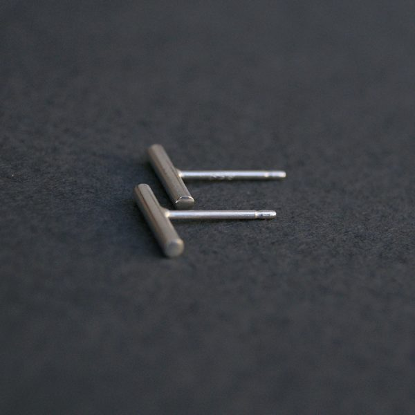 mini modern stick earrings