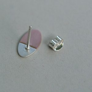 silver and copper ovals
