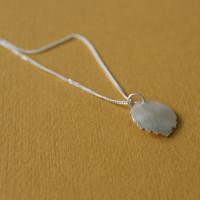 tiny leaf necklace