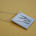 grassland silhouette necklace