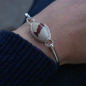 Owyhee Jasper and silver bangle bracelet
