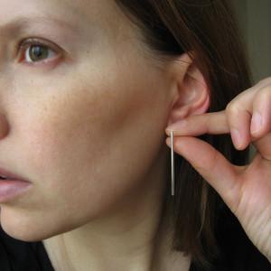 modern sticks earings