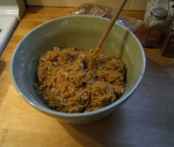 pumpkin walnut cookie dough