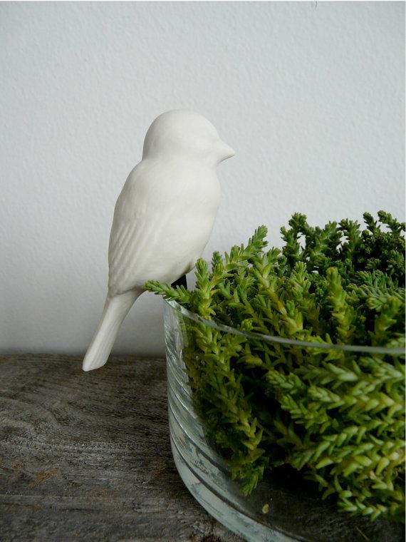 Porcelain Terrarium Bird