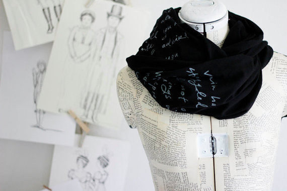 Mr. Darcy Proposal scarf