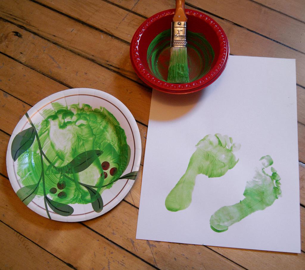 Fingerpaint Footprints