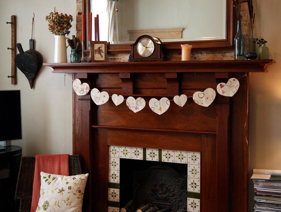 old book page valentine garland