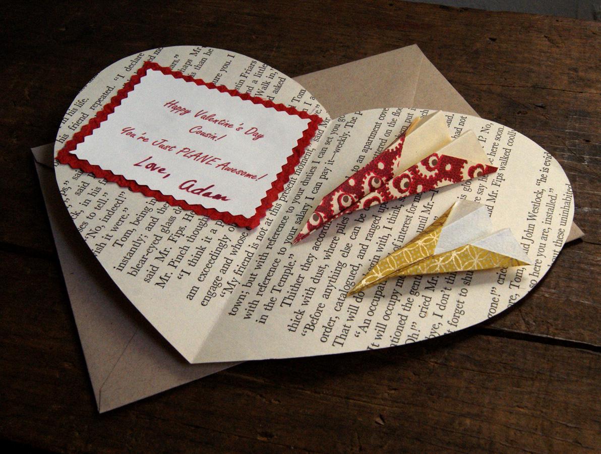 boy book page valentine