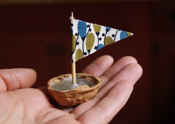 Walnut Shell Boats, A Weekend Project