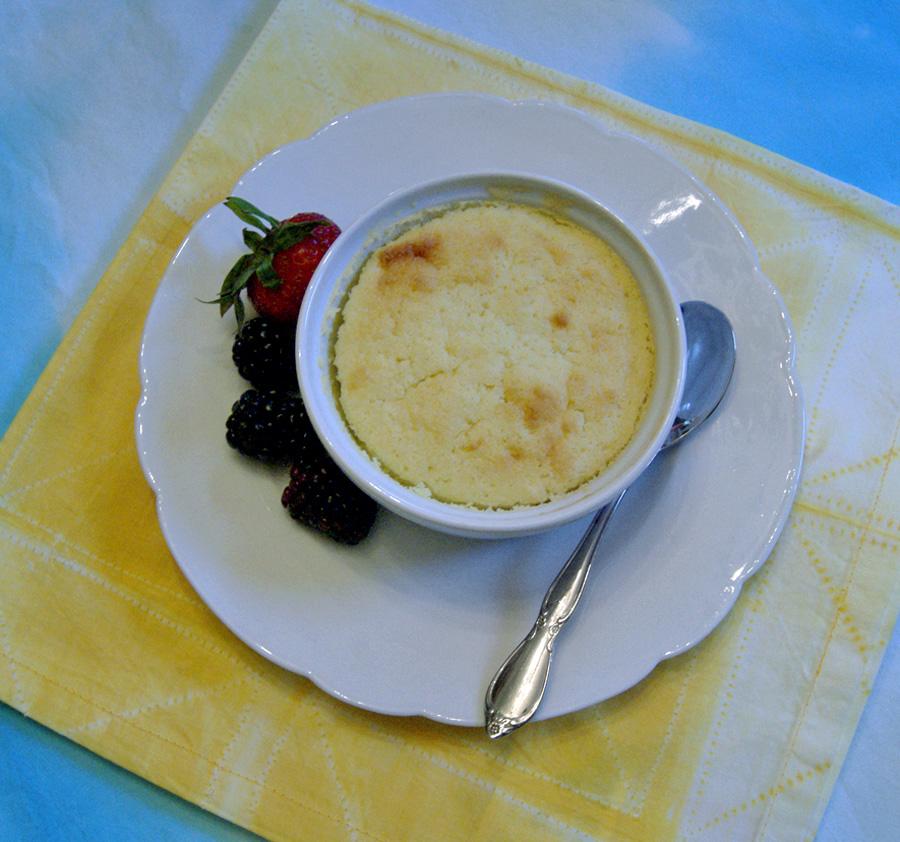 Easter dinner, lemon pudding cakes