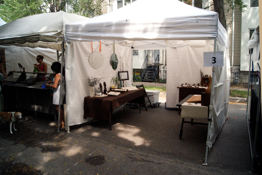 Starving Artist Designs booth Bucktown Arts Fest