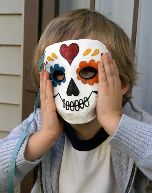 Papier-Mache Sugar Skull Masks