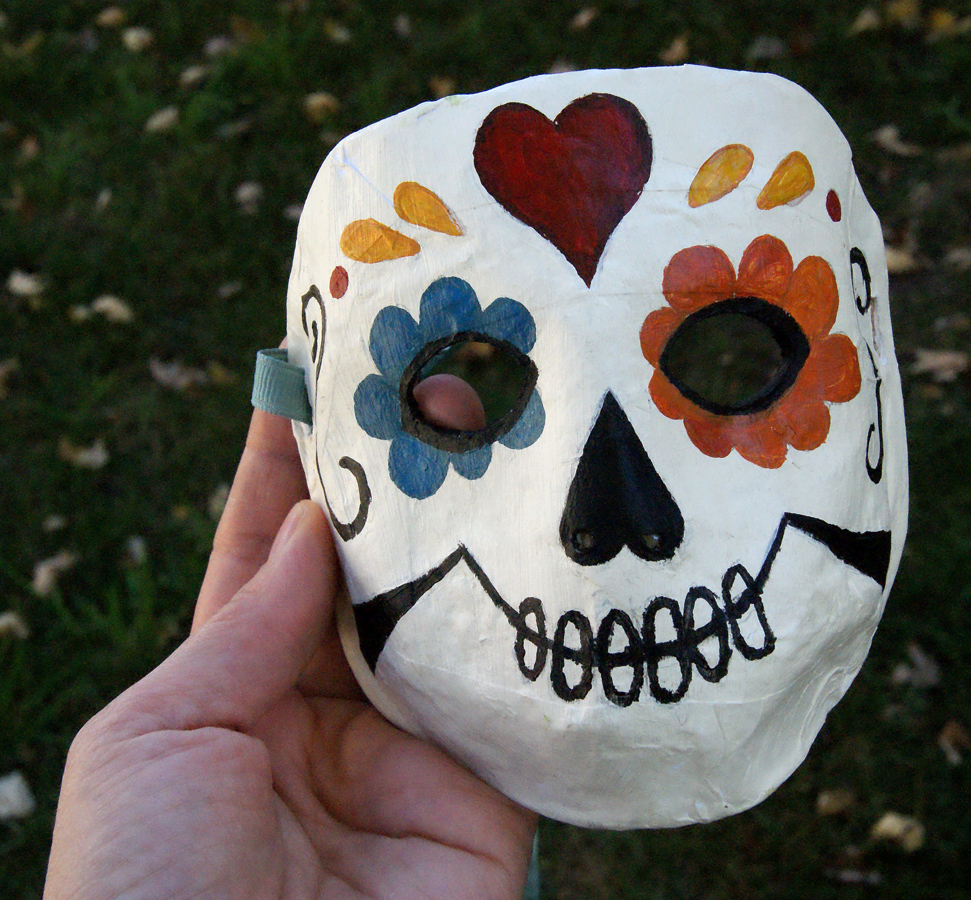 Toddler papier-mache mask