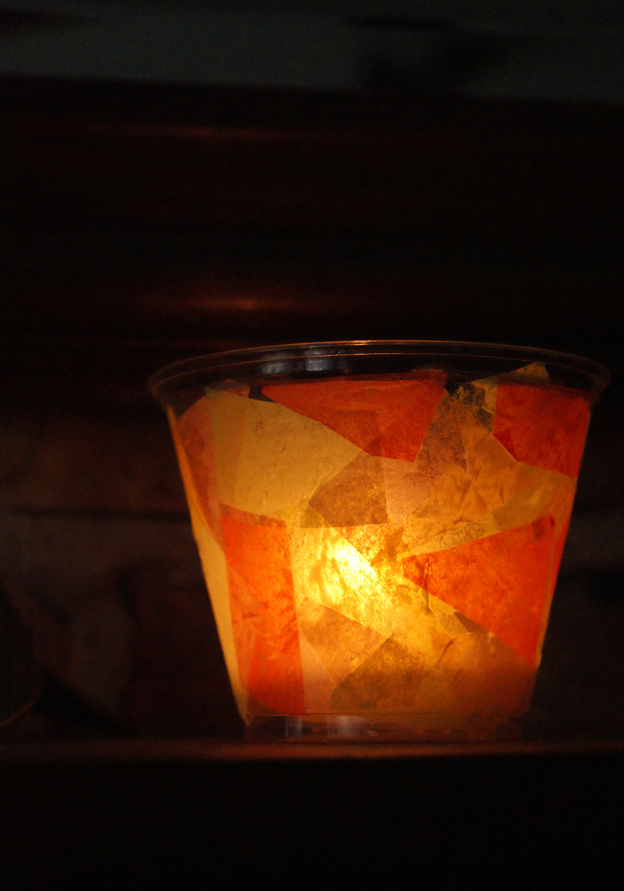 Toddler friendly night light candle holder